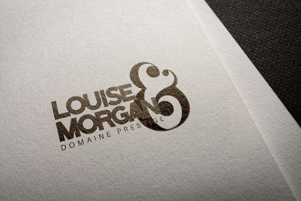 Louise & Morgan domaine prestige design branding et identité de marque