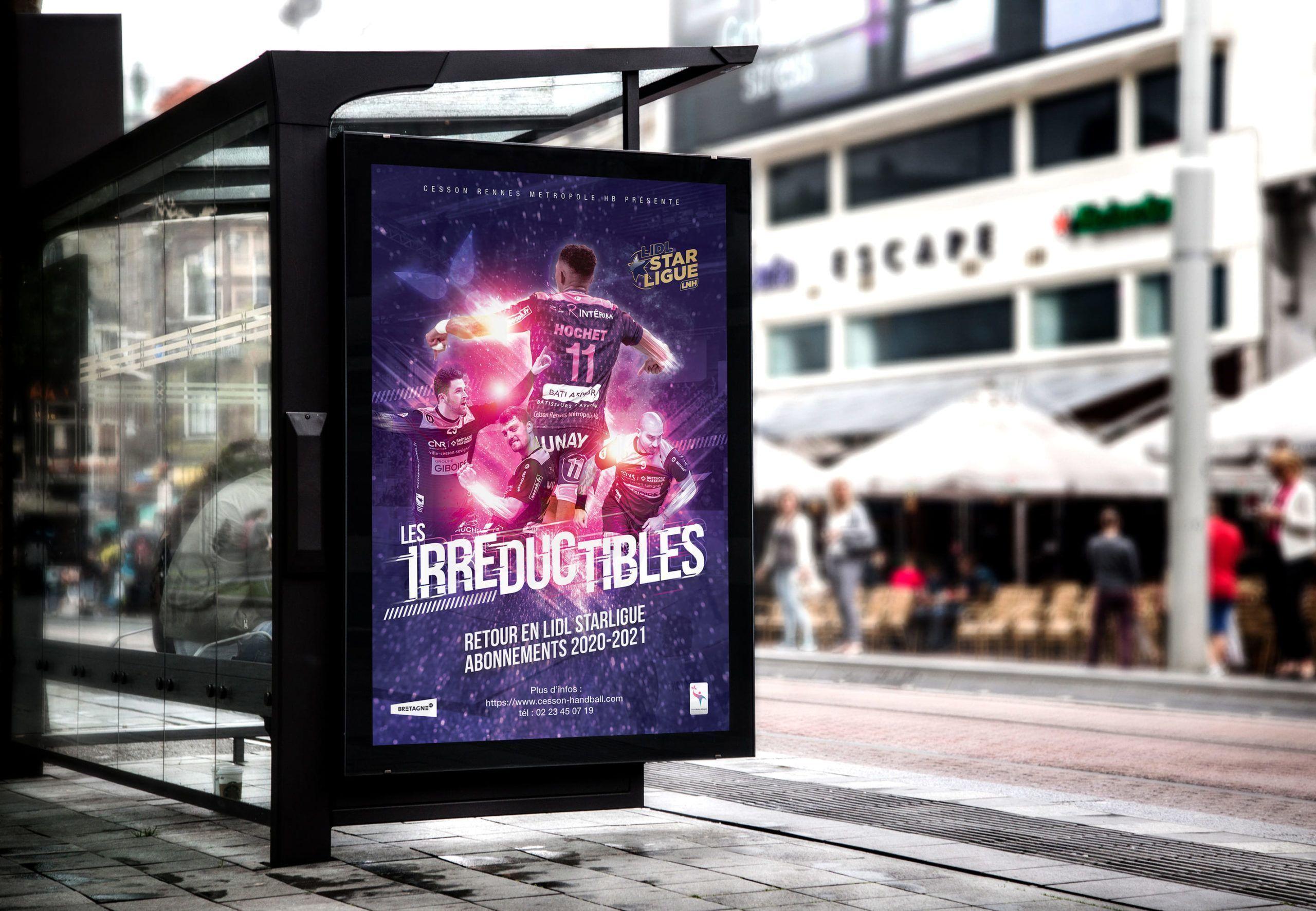 Affiche promotion campagne affichage 2021 cesson handball